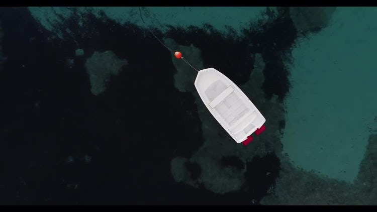 Boat Isolated In The Sea: Stock Video
