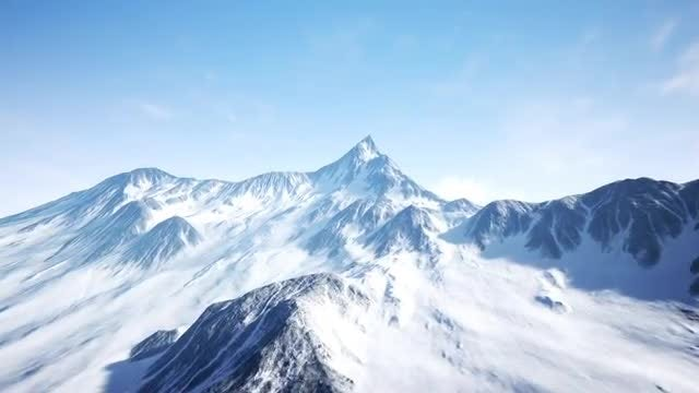 Snowy Mountain: Stock Motion Graphics