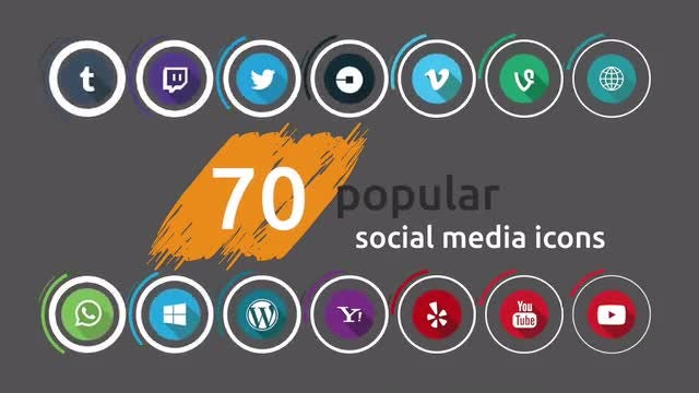 Social Media Icons Pack 3: Stock Motion Graphics