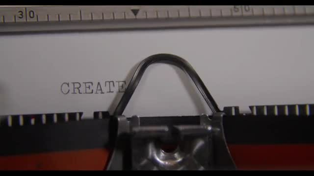 Typewriter Generating The Word CREATE: Stock Video