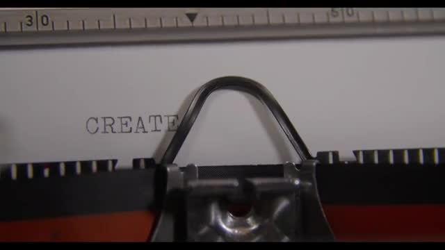 Typewriter Generating The Word CREATE: Stock Video