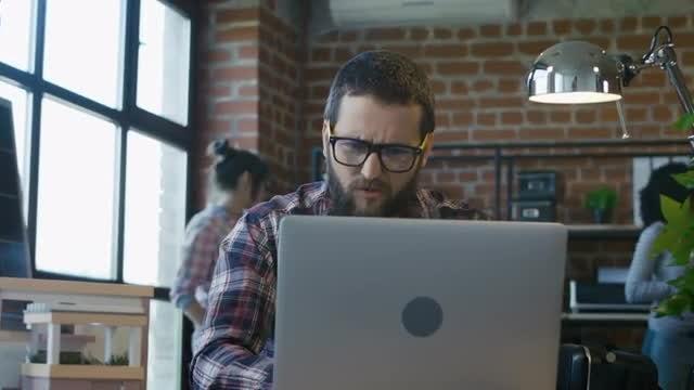Man Upset Following Bad News : Stock Video