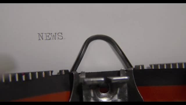 Typewriter Generating The Word NEWS : Stock Video