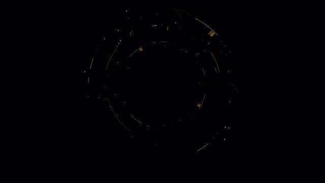 Circle HUD 1: Stock Motion Graphics