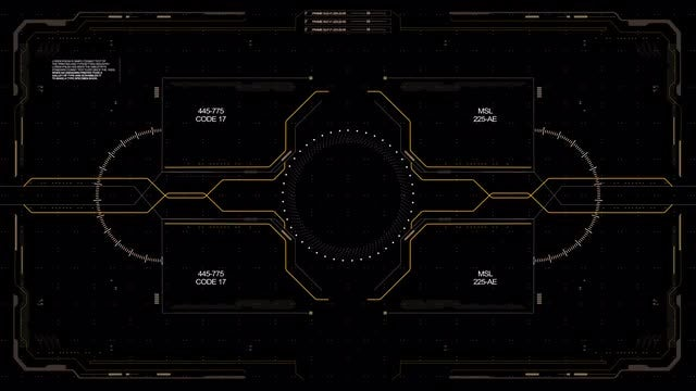 Code 17 Hi-Tech HUD Display : Stock Motion Graphics
