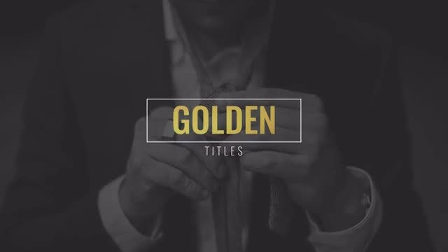 Golden Titles Pack: After Effects Templates