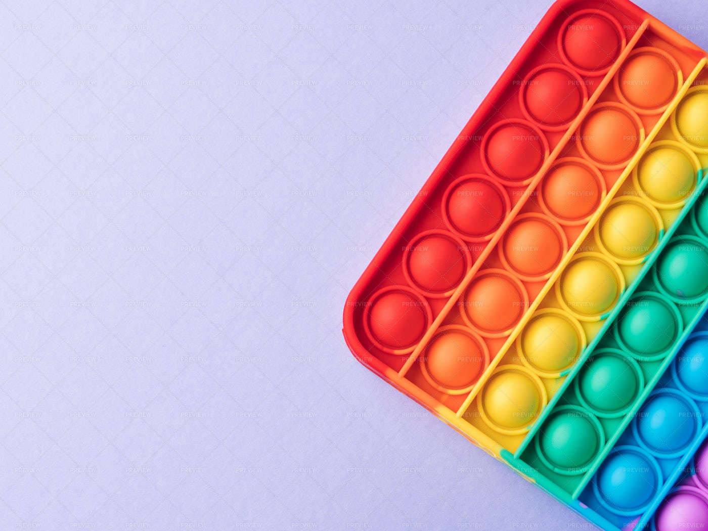 Rainbow Colored Poppit: Stock Photos