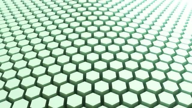 Abstract Wavy Green Hexagon Outlines: Stock Motion Graphics