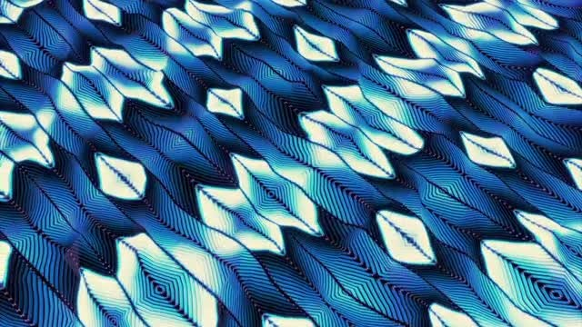 Feathers And Diamonds Light Abstract: Stock Motion Graphics