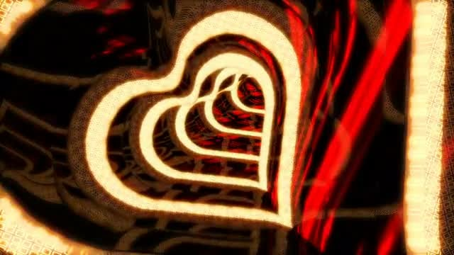 VJ Tunnel In The Form Of Hearts: Stock Motion Graphics