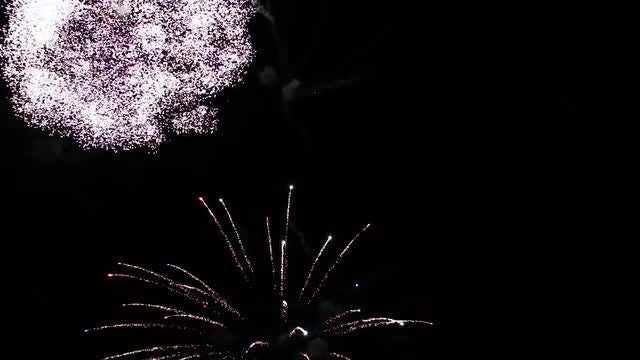 Fireworks Exploding In The Air: Stock Video