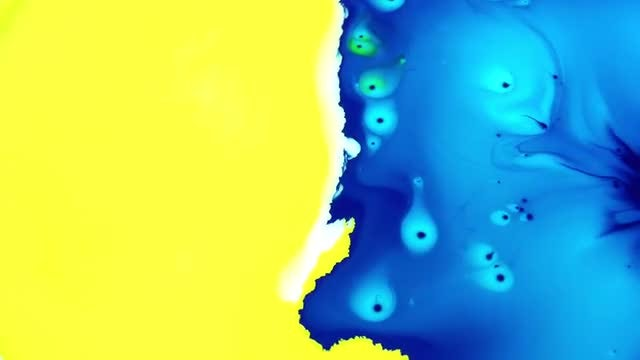 Colored Liquid Paints Spreading Slowly: Stock Video