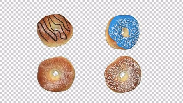 Different Rotating Donuts: Stock Motion Graphics