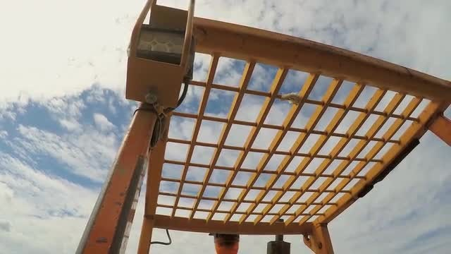 Low-angle Of Construction Machinery: Stock Video