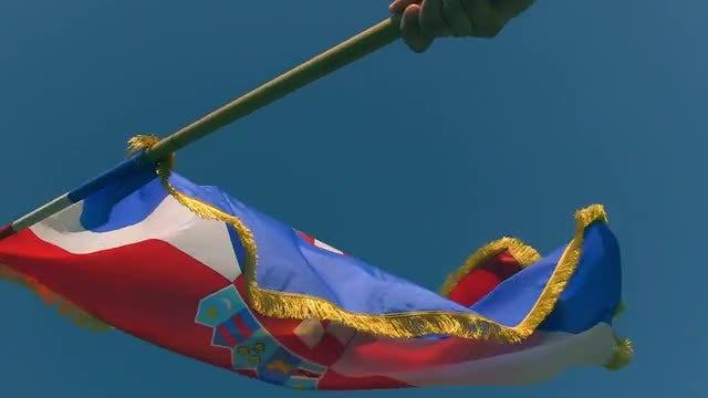 Croatian Flag Waving: Stock Video