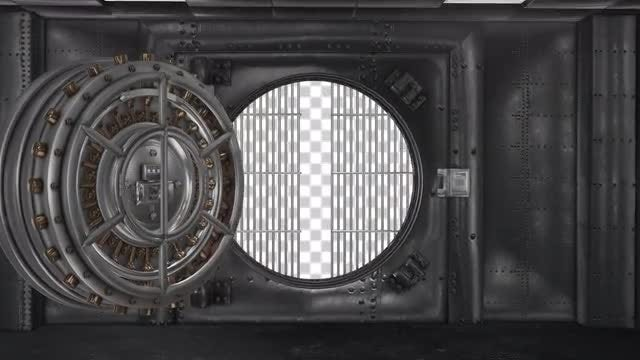 Bank Vault Opening Alpha Channel : Stock Motion Graphics