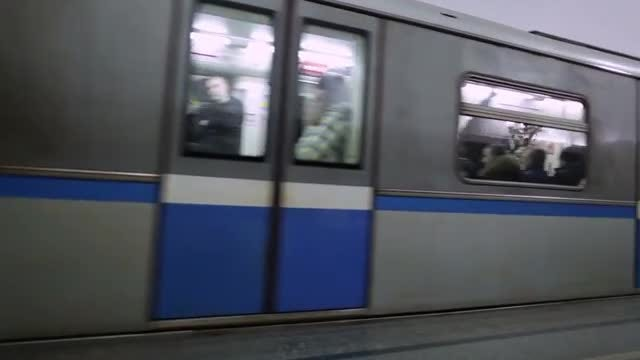 Moscow Subway Train: Stock Video