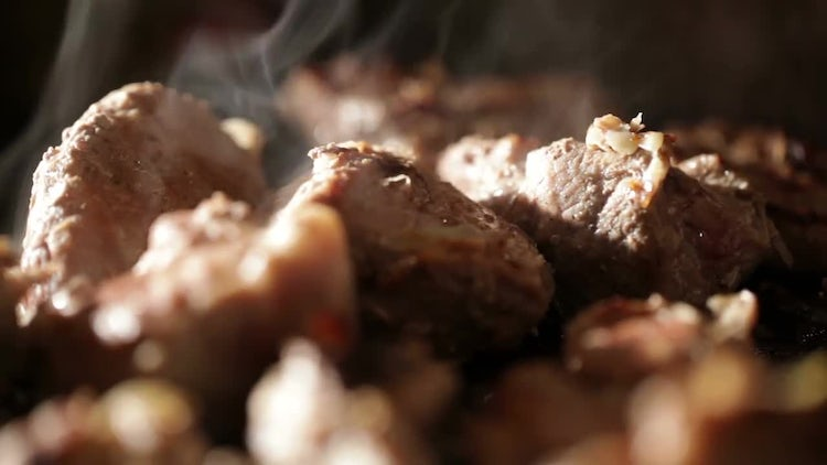 Meat On The BBQ: Stock Video