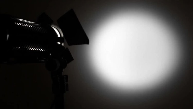 Light Spot On White Background: Stock Video