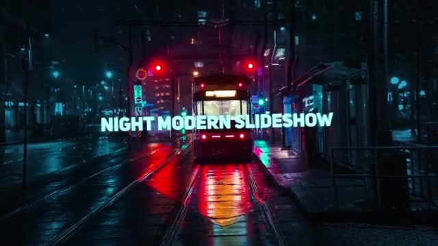 Night Modern Slideshow: After Effects Templates