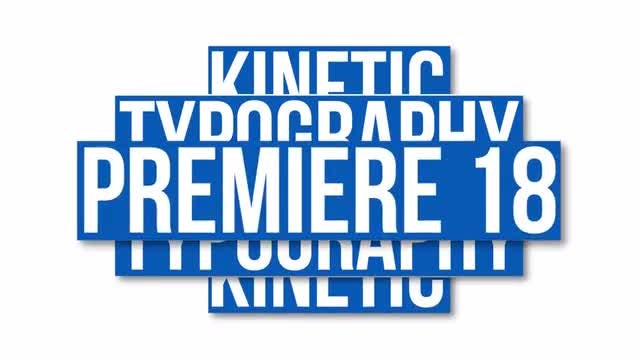 Kinetic Titles And Presets: Premiere Pro Templates