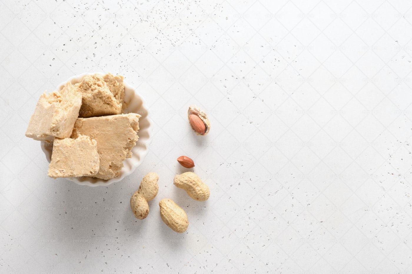 Sweet Dessert Peanuts Halva: Stock Photos