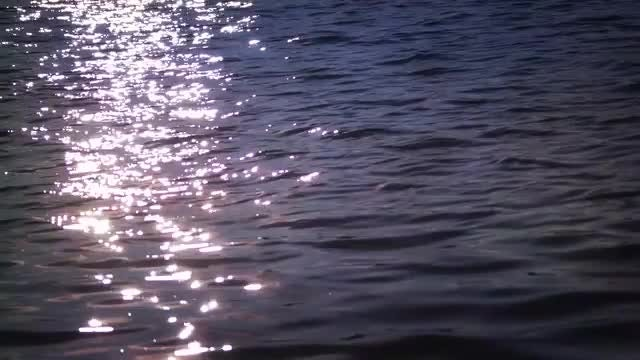 Sunset Light Reflected In Water: Stock Video