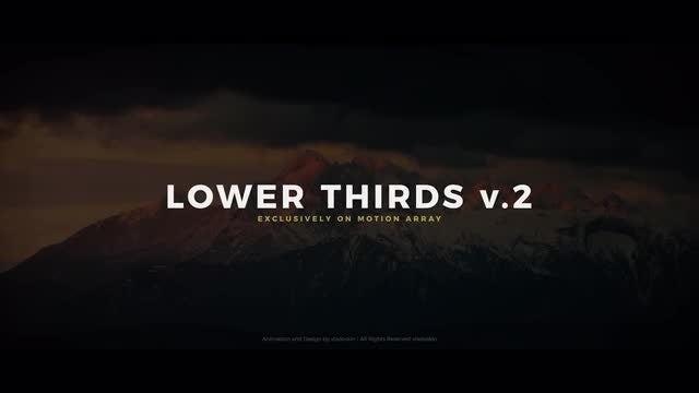 Lower Thirds V.2: After Effects Templates