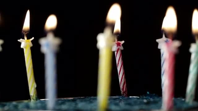 Birthday Candles Rotation: Stock Video