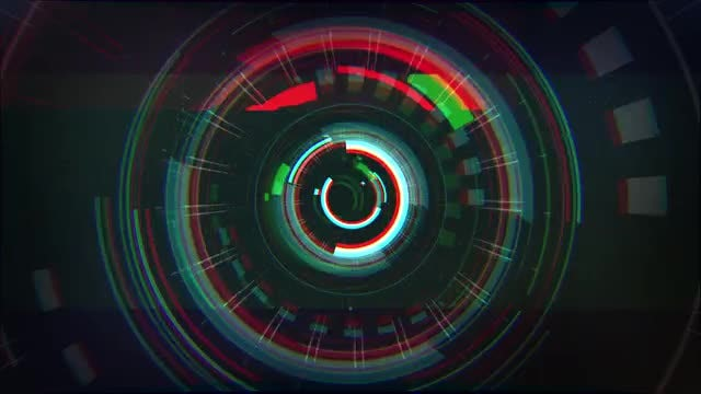 Glitch Tunnel Logo : After Effects Templates