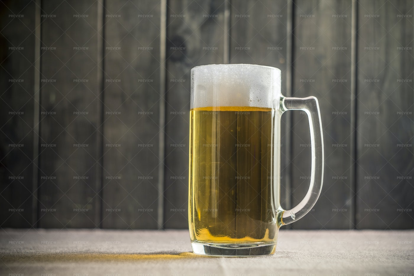 Beer With Foam In A Mug: Stock Photos