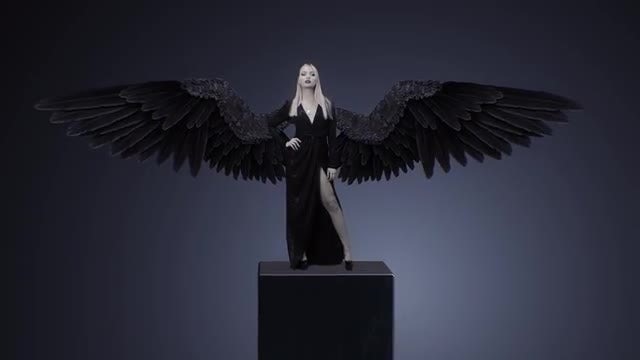 Girl With Black Wings: Stock Motion Graphics