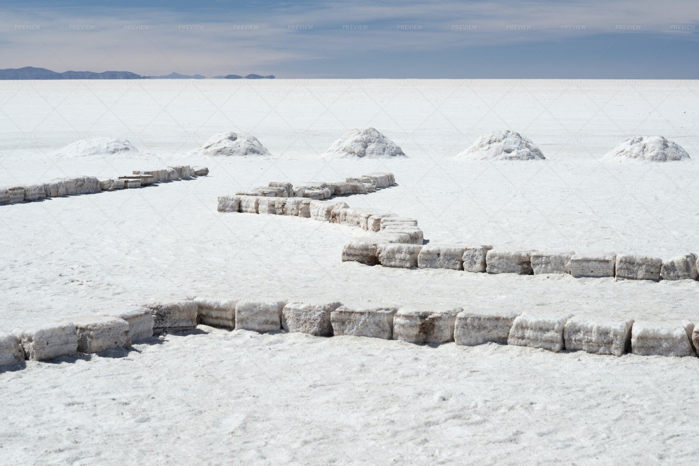 Salt Bricks And Piles: Stock Photos