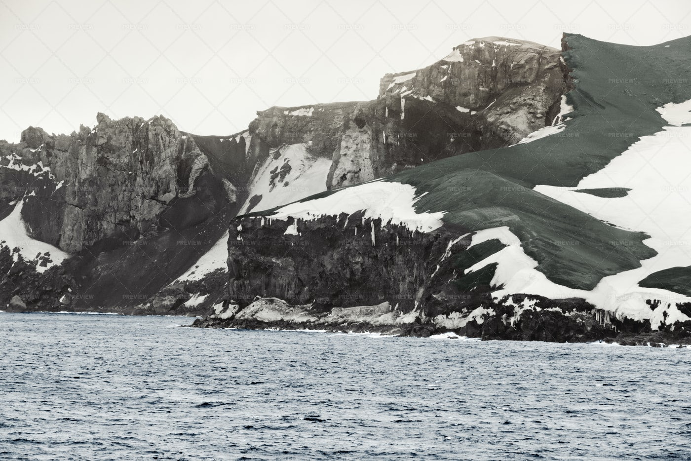 Deception Island In Antarctic: Stock Photos