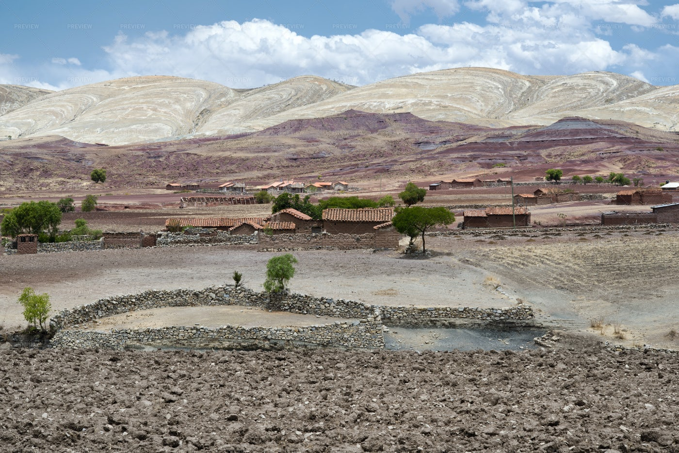 Village In Maragua Crater: Stock Photos