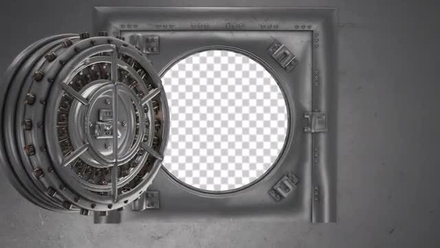 Bank Vault Opening Doors: Stock Motion Graphics
