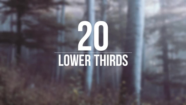 20 Lower Thirds: After Effects Templates