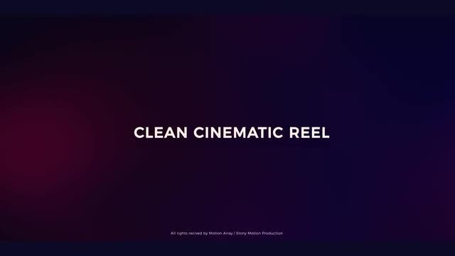 Clean Cinematic Reel: After Effects Templates