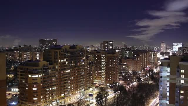 Night City Time Lapse: Stock Video
