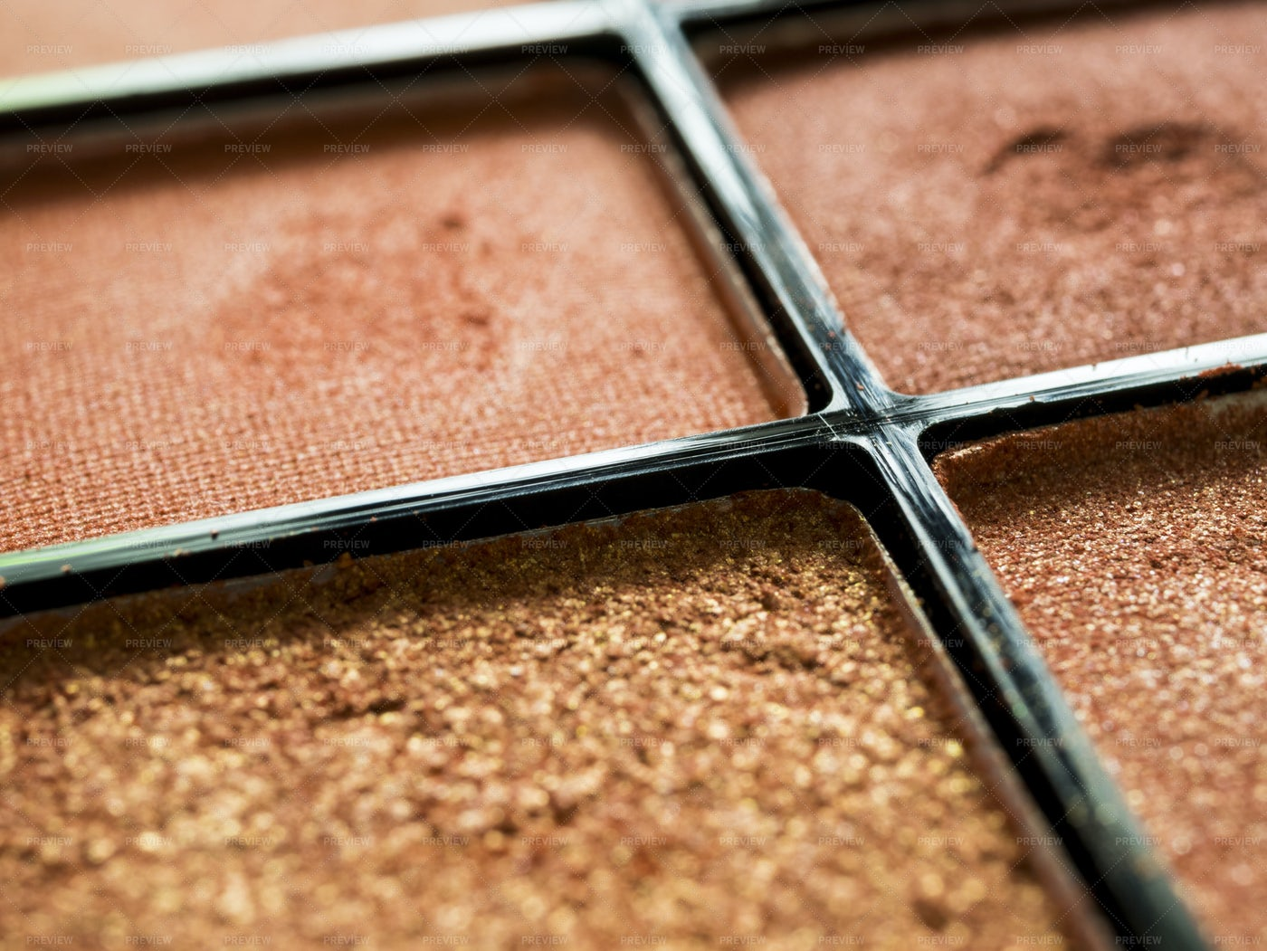 Used Eye Shadow In Package: Stock Photos