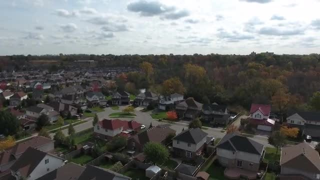 Pan Over Residential Neighborhood: Stock Video
