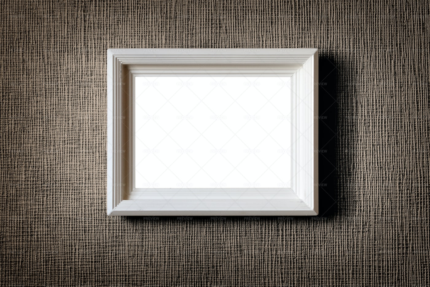 Old Wooden Picture Frame On Wall: Stock Photos