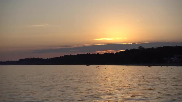 Golden Sunset On The Beach : Stock Video