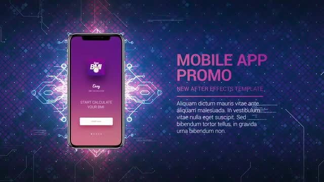 Technology App Promo: After Effects Templates