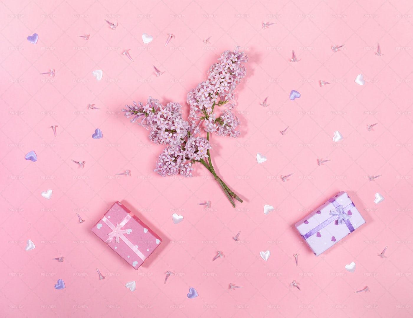Festive Pink Background: Stock Photos