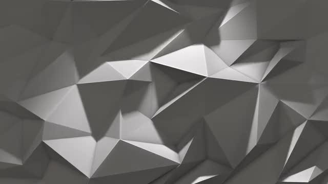 Low Poly Shifting Triangles Background : Stock Motion Graphics