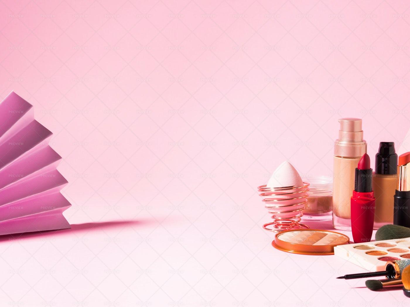 Make Up Beauty Background: Stock Photos
