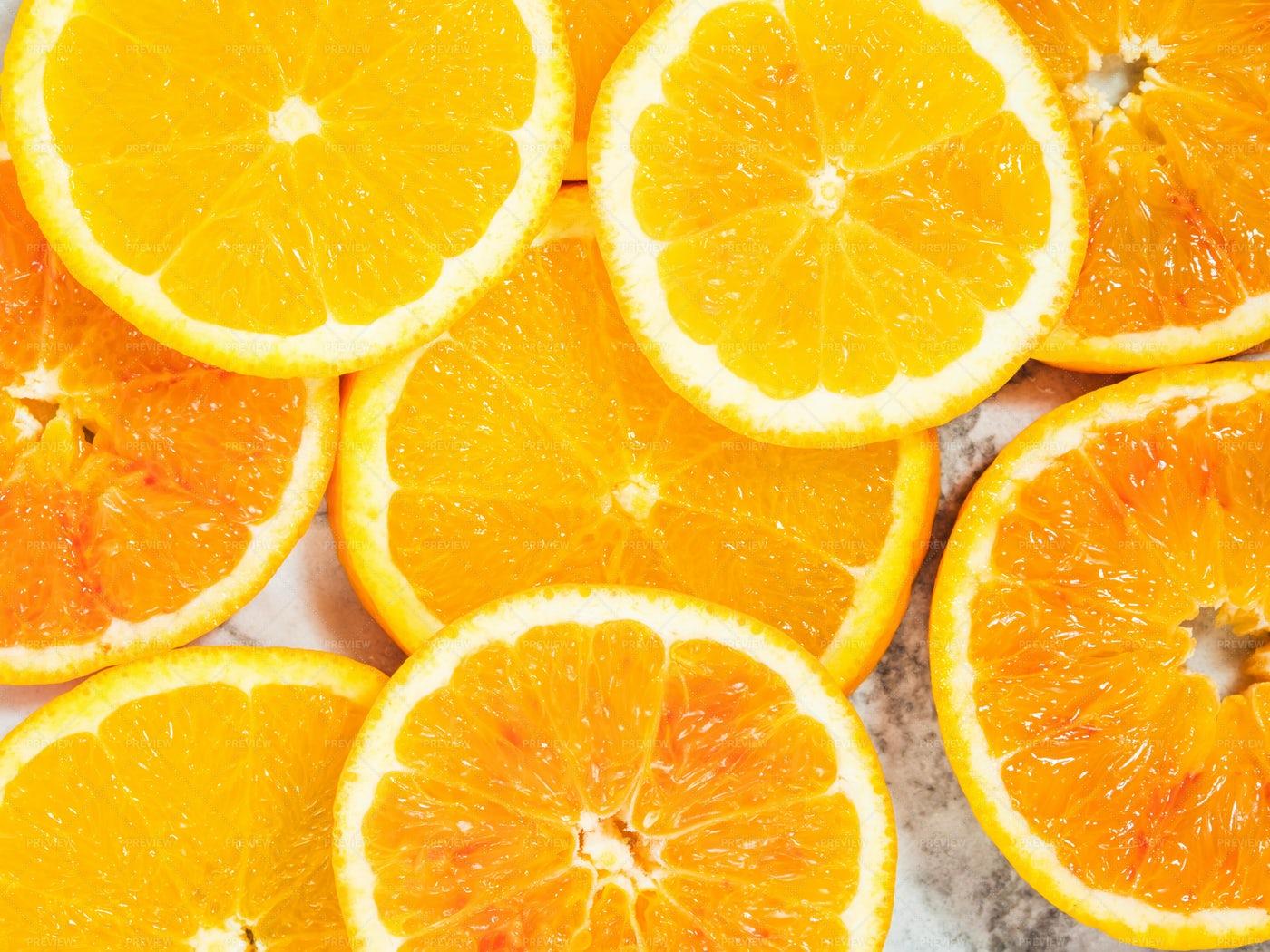 Colorful Orange Citrus Background: Stock Photos