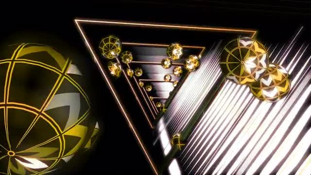 Gold Geometric VJ Tunnel Loop: Stock Motion Graphics
