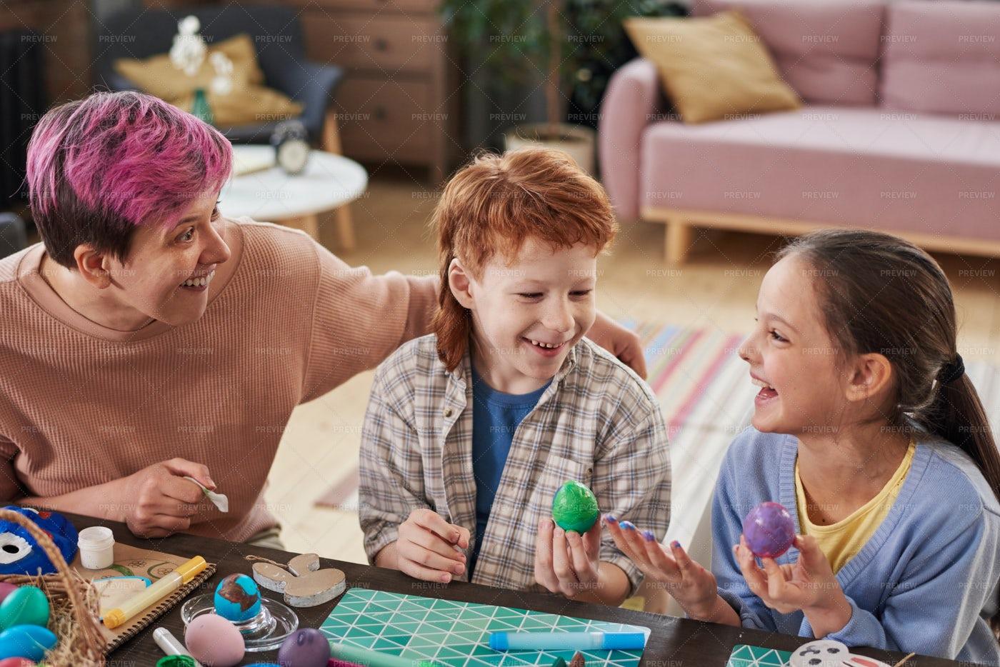 Family Having Fun At Home: Stock Photos